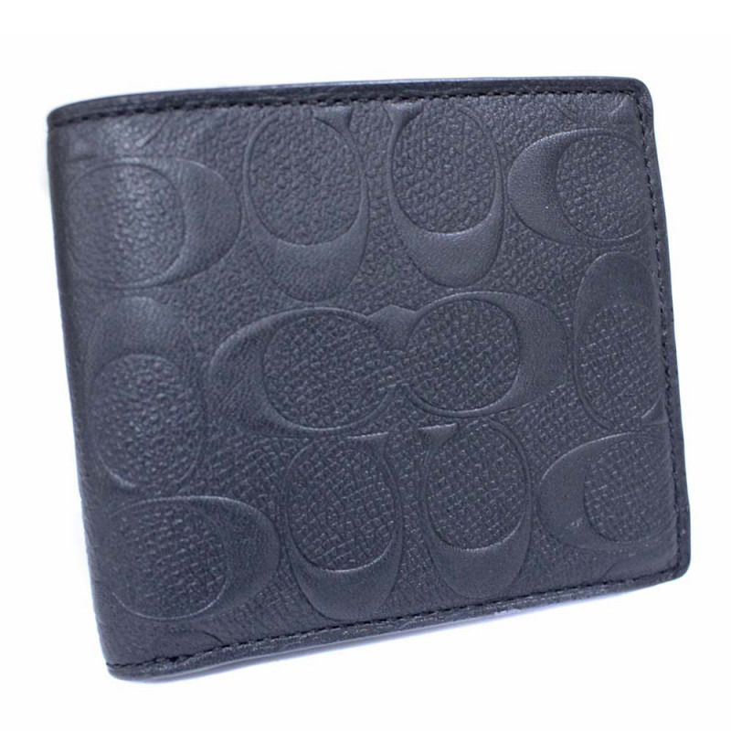 COACH コーチ レザー シグネチャー二つ折り財布