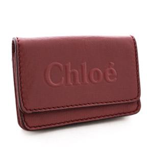 Chloe【クロエ】 シャドウ カードケース レッド 3P0347